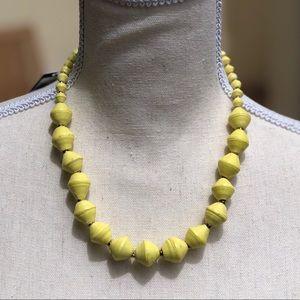 Single Strand, bright yellow beaded necklace